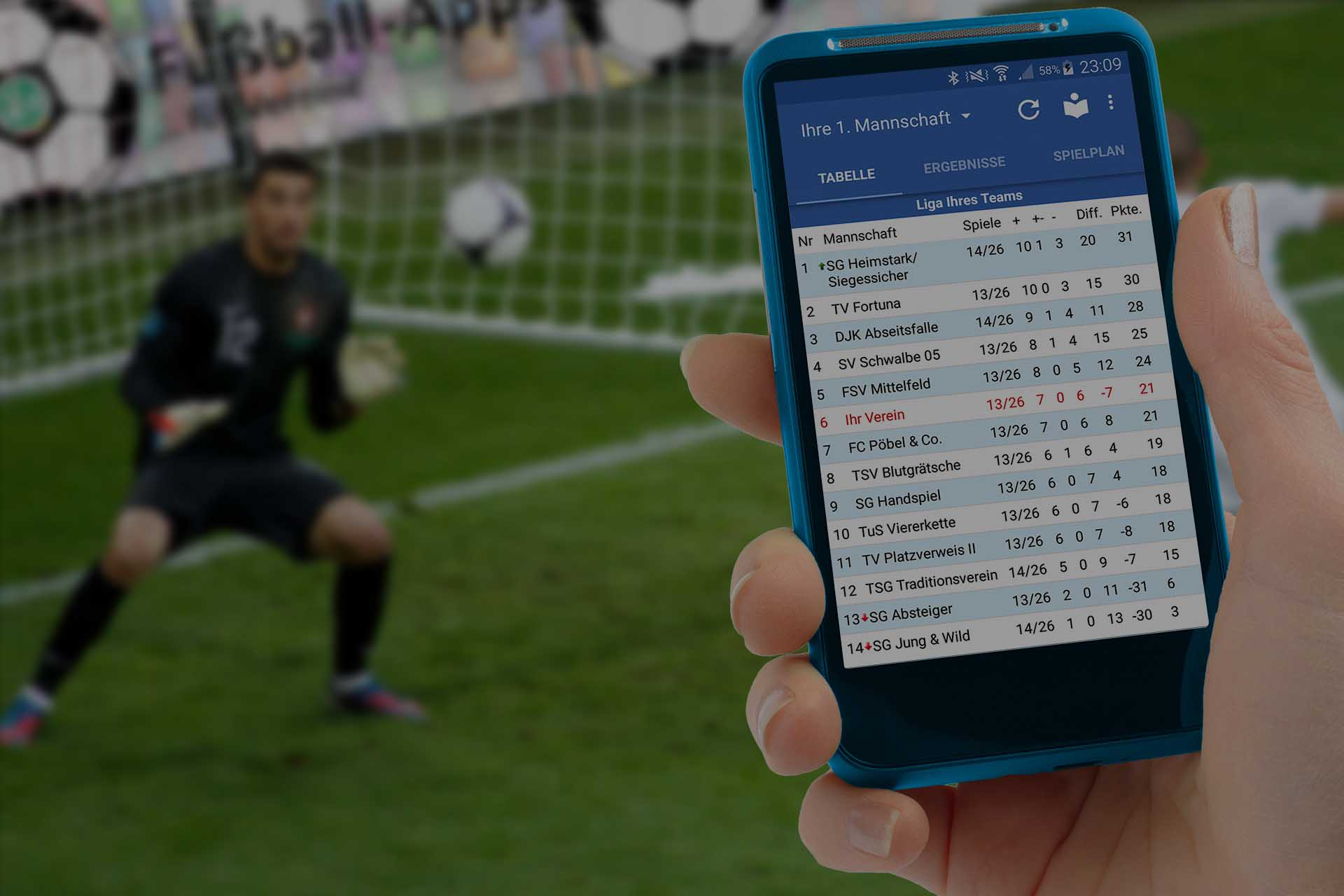 Fußball-App Titelbild