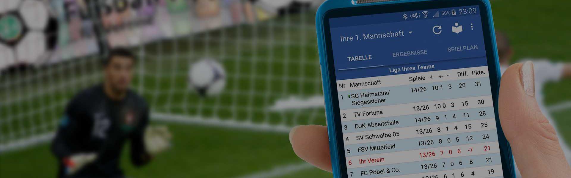 Die Fußball-App